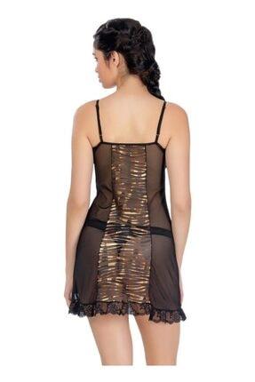 ÖZKAN underwear Kadın Siyah Gecelik 22789