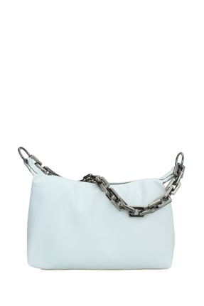 Housebags Kadın Beyaz Zincir Detaylı Omuz Çantası