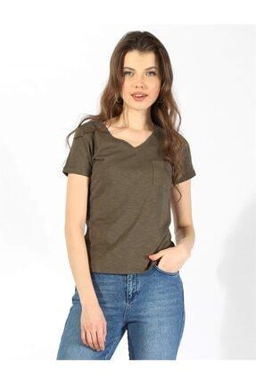 Twister Jeans Bts 3001 Kadın Cep Detaylı V Yaka T-shırt