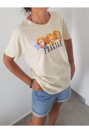 Köstebek Kadın Krem 3 Melek T-shirt
