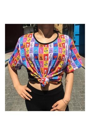 Köstebek Dijital Baskı - K-pop - Bts Bt21 Karakterler (unisex) T-shirt