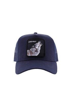 Goorin Bros Unisex Lacivert Kurt Baskılı Şapka