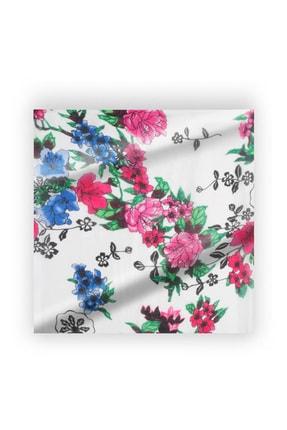 Silk & Cashmere Unisex Beyaz Saf İpek Laila Fular 53x53 cm A202F134001