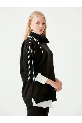 Seçil Scl Iç Gömlekli Kolları Şeritli Sweat Bluz