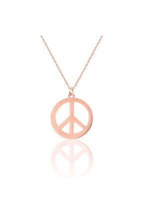 Azuris Silver Kadın Rose Gold 925 Ayar Gümüş Peace Kolye Alk1359