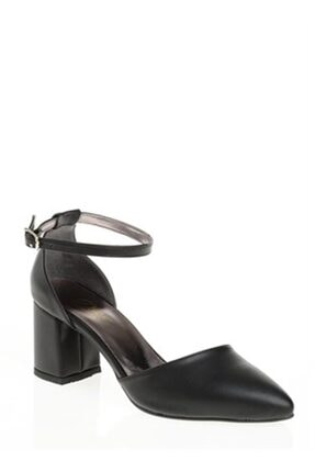 Derigo Siyah Kadın Topuklu Sandalet 39138