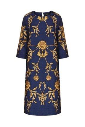 Faberlic Lacivert Uzun Kollu Küpür Elbise 46 Beden