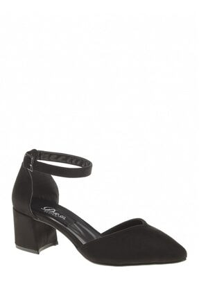 Derigo 39158 Siyah Süet Kadın Sandalet