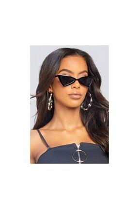 Hane14 Kadın Siyah Üçgen Köşeli Güneş Gözlüğü
