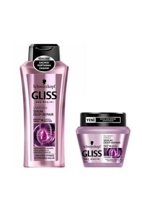 Gliss Schwarzkopf Serum Deep Repair Şampuan 360 ml + Serum Deep Repair Maske 300 ml