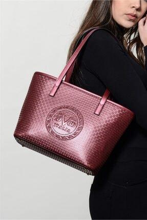 Versace Kadın Mürdüm El Çantası