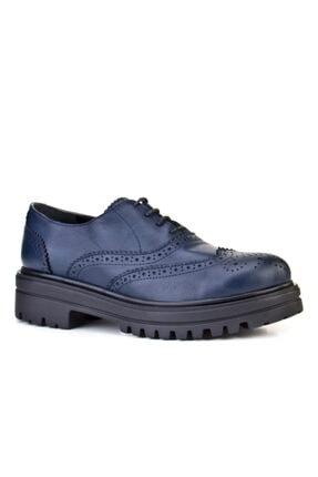 Cabani Kadın Lacivert  Hakiki Deri Ayakkabı 8KBC39AY001L01