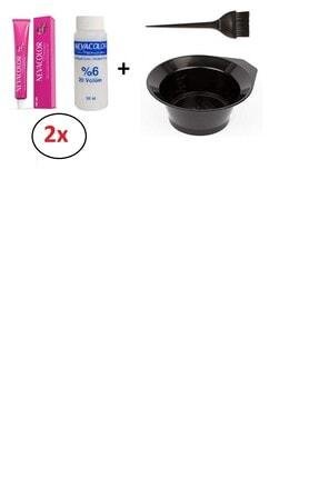Neva Color Nevacolor Tüp Boya 5.7 Moka- 2 'li+nevacolor Oksidan 2'li+ Boyama Kabı +boya Fırçası