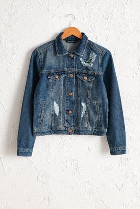 Kadın Orta Rodeo Jean Ceket 0SY891Z8