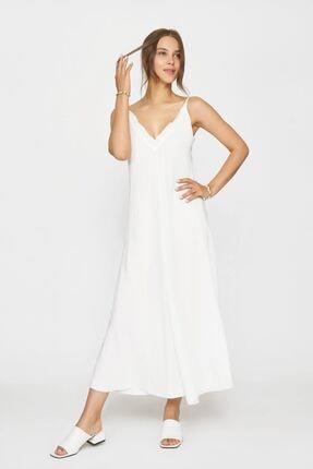 Batik Kadın Beyaz Duz Casual Elbıse Y42781 Dkm