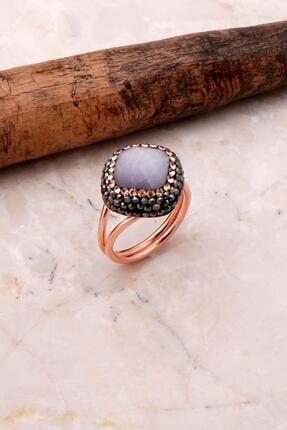 Sümer Telkari Opal Taşlı Rose Gümüş Yüzük 3087
