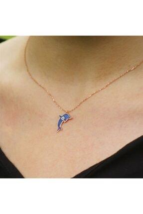 SilverPlus Kadın Nazarlı Yunus Balığı Gümüş Kolye AG1195
