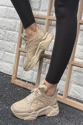 İnan Ayakkabı Kadın Bej Sneakers
