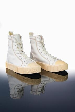 Letoon Kadın Beyaz Yüksek Bilekli Spor Ayakkabı Ltn2021