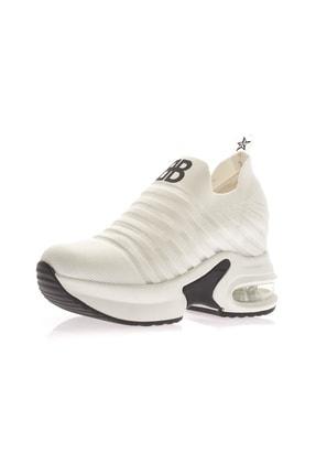 Guja Kadın Beyaz 7.5 cm Gizli Dolgu Yüksek Air Taban Spor Ayakkabı