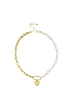 LUZDEMIA Duo Pearl Heart Necklace
