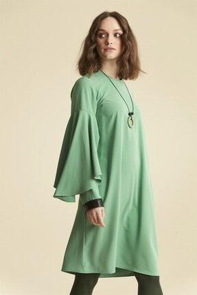 Nihan Kadın Kol Nervür Detaylı Tunik - Yeşil 9a3027