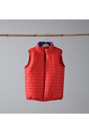 Verscon Unisex Bebek Kırmızı Polar Astarlı Yelek