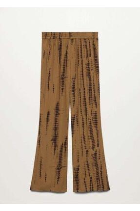 Mango Kadın Kahverengi Pantolon