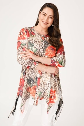Moda İlgi Kadın Çiçekli Tunik