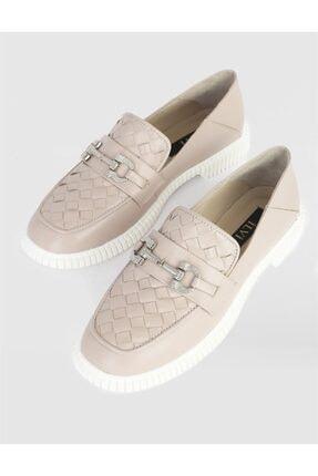 İlvi Kadın Vizon Hakiki Deri Loafer Ayakkabı