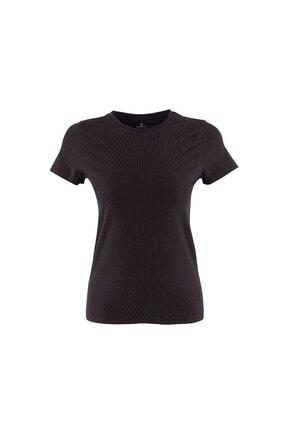 Lumberjack Kadın T-shirt Siyah As00541936 100581832 Ct129 Basic C Neck