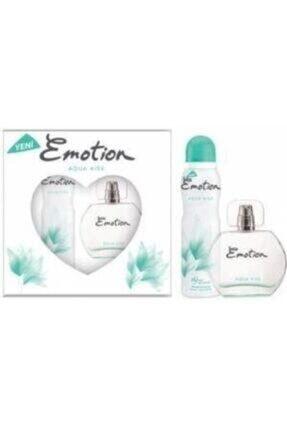Emotion Aqua Kiss Edt 50 ml Kadın Parfüm  + 150 ml Deodorant Seti 258364587145