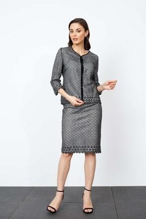 Moda İlgi Modailgi Dantel Ceket Gümüş
