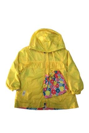 Midimod Kız Çocuk Sarı Cepli Yağmurluk