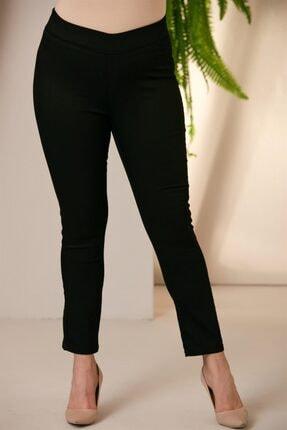 Rmg Kadın Siyah Beli Lastikli Pamuk Pantolon 1432