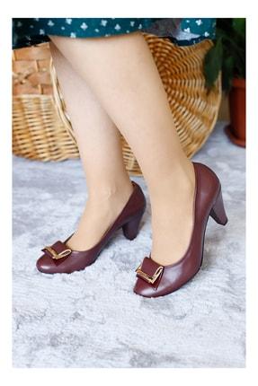 Punto Kadın Bordo Gundelık Topuklu Ayakkabı