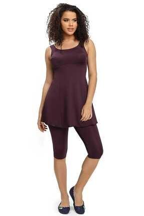 Armes Kadın Bordo Taytlı Etekli Elbise Mayo 9004-17