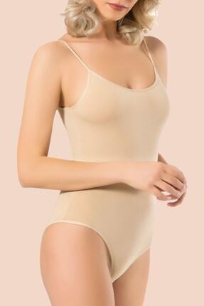 Namaldi Kadın Ten 3'lü Paket Pamuklu Elastan Çıtçıtlı Body
