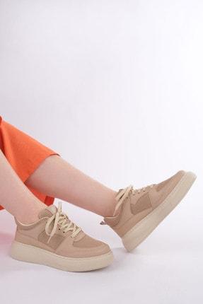 Marjin Kadın Bej Sneaker Ayakkabı Levido