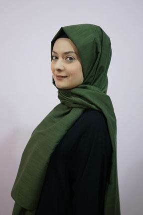 Eflatun Kadın Yeşil Düz Şal