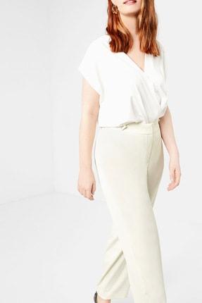 Mango Kadın Kırık Beyaz Pantolon 43035763