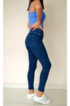 Only Kadın Lacivert Pushup Fit Yüksek Bel Kot Pantolon