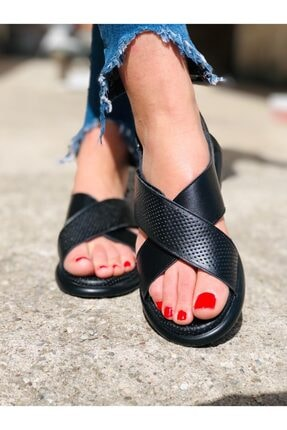 Stella Kadın Siyah Dora Quality Sandalet