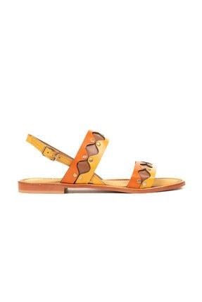Greyder Kadın Oranj Taba Sandalet 1Y2TS57331