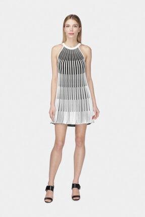 W Collection Kadın Siyah Halter Yaka Triko Elbise