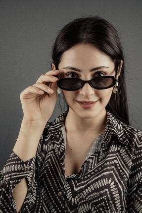 De Valentini De Valentını Bodu95129c1 Elips Vıntage Siyah Kadın Güneş Gözlüğü