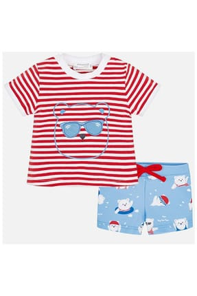 Mayoral Yazlık Erkek Bebek T-shirt Mayo 2'li Set