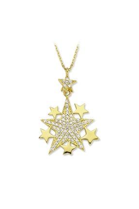 Dalmarkt Kadın 925 Ayar Gümüş Altı Yıldız Figürlü Kolye AFJMSV451