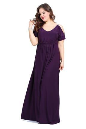 ANGELINO Kadın Mor Abiye Elbise KL8081