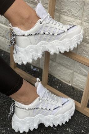İnan Ayakkabı Kadın Beyaz Cilt Sneakers